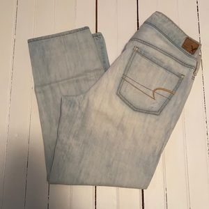 American Eagle Outfitters Boy Crop Jeans Size 10